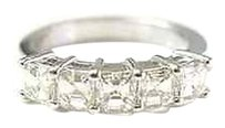 Other Fine,Five,Asscher,Cut,Diamond,Anniversary,Band,1.89ct,