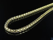 Mens Ladies 10k Yellow Gold Mm Palm Wheat Chain Necklace 22-30 Inches