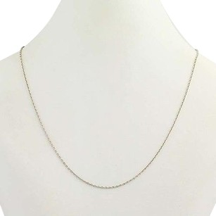 Cable Chain Necklace 15 34 - Sterling Silver Womens