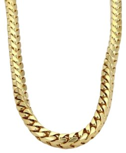 Other Heavy 14k Yellow Gold 2ct Diamond 7mm Byzantine Chain Link Necklace 30 263gr