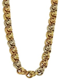 Other Spritzer Fuhrman18k Tri-color Gold Fancy Double Interlaced Chain Link Necklace