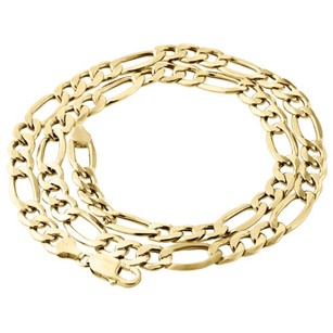 Other Real 10k Yellow Gold Solid Figaro Chain 8.25mm Necklace Lobster Clasp 18-30 Inch