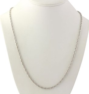 Twisting Curb Chain Necklace - Screw On Clasp 24.5 Unisex Polished