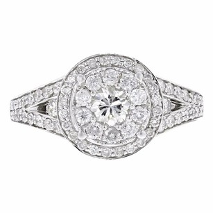 Other 0.95ct Pave Diamond 14k White Gold Round Ring