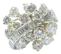 Other 18kt,Round,Baguette,Diamond,Cluster,2-tone,Jewelry,Ring,3.57ct