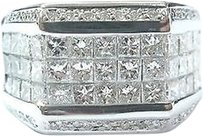 Other 18kt,Princess,Round,Cut,Invisible,Set,Diamond,White,Gold,Ring,3.27ct