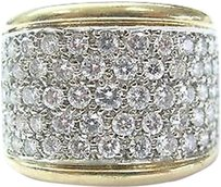 Fine,Wide,Round,Cut,Diamond,5-row,Cluster,Ring,Yg,1.65ct
