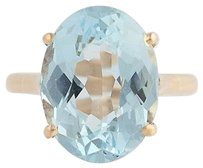 Other Aquamarine Cocktail Ring - 14k Yellow Gold March Birthstone Solitaire 6.18ct