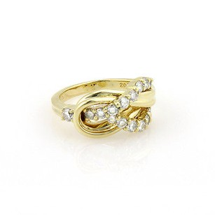 Other Jose Hess 18k Yellow Gold Diamond Knot Designer Ring