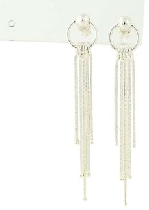 Dangle Fringe Earrings - Sterling Silver 925 Pierced