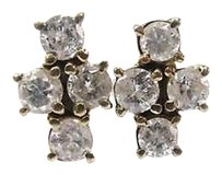Other Fine Round Cut Diamond Earrings Yg 14kt 1.45ct