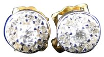 10k,Yellow,Gold,Genuine,Diamond,Halo,Style,Earrings