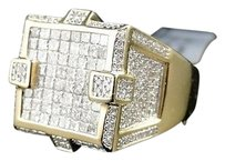 ,Mens,14k,Yellow,Gold,Princess,Cut,Diamond,Xl,Pinky,Fashion,Ring,2.5,Ct