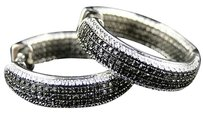 ,Womens,Ladies,Round,Diamond,Hoops,Huggie,Earrings