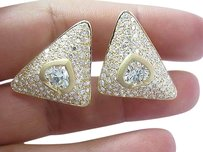 18kt,Spade,Shape,Fancy,Light,Yellow,Diamond,Earrings,Yg,9.70ct