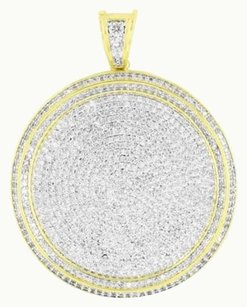 Other Round Gold Finish Pendant Medallion Design Simulated Diamond Iced Out Celeb Wear