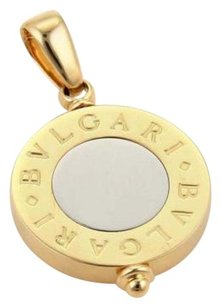 Bulgari Bvlgari 18k Two Tone 18k Steel Signature Circle Pendant