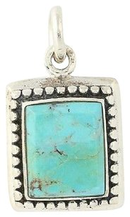 Other Turquoise Pendant - Sterling Silver Beaded Border Womens
