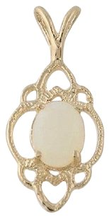 Other Opal Solitaire Pendant - 14k Yellow Gold Cabochon Cut .52ct