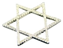 14k,White,Gold,Jewish,Star,Shape,Diamond,Pendant,.42,Ct