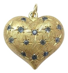 Other Fine,Gem,Sapphire,Yellow,Gold,Heart,Pendant,14kt,.30ct