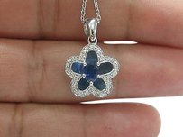 Other Fine,Gem,Sapphire,Diamond,Pendant,Necklace,Wg,.73ct