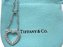 Tiffany,Co,Platinum,Hearts,Pendant,Necklace,