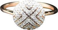 ,10k,Ladies,Womens,Rose,Gold,Round,Cut,Diamond,Designer,Fashion,Ring