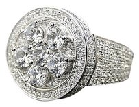 Mens Iced Out 3d Solitaire Style Simulated Lab Diamond Prong Style Pinky Ring