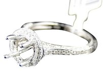 14k,Womens,White,Gold,Diamond,Round,Cut,Semi,Mount,Engagement,Ring,.69,Ct