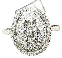 14k,White,Gold,Ladies,Round,Cut,Diamond,Wedding,Engagement,Band,Ring,.90,Ct