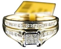 Other Yellow,Gold,Ladies,Princess,Cut,Bridal,Engagement,Ring,Band,12,Ct