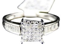 14k,White,Gold,Ladies,Womens,Engagement,Princess,Diamond,Wedding,Band,Ring,.50ct