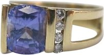 Fine,Tanzanite,Diamond,Yellow,Gold,Ring,14kt,2.24ct