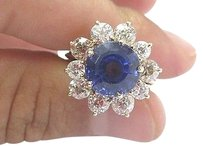 Fine,Gem,Tanzanite,Old,Mine,Cut,Diamonds,Yellow,Gold,Jewelry,Ring,10.05ct