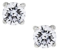 14k White Gold 1ctw Round Diamond Stud Earrings