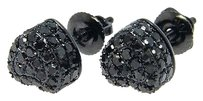 Ladies,3d,Black,Heart,7,Mm,Diamond,Stud,Earrings,1.0,Ct