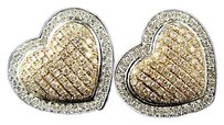 White,Gold,Ladies,Heart,Pave,Pink,Gold,Diamond,16,Mm,Earrings,1.50,Ct