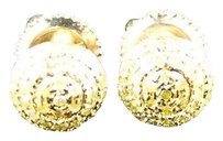 ,Mens,Ladies,10k,Yellow,Gold,7,Mm,Canary,Dome,Diamond,Stud,Earrings,13,Ct