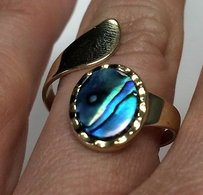 Other Australian Way Pacific Gem 22k Gold Plate Adjustable Ring In Box