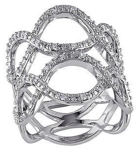 Sterling Silver 14 Ct Diamond Tw Fashion Twisted Journey Ring Gh I2i3