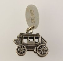Other Kansas Coach Dangle Pendant - 925 Sterling Silver Buggie Womens Fine Estate