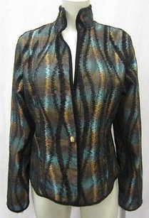 Other Khangura Jacket Jacquard Iridescent Copperteal Reversible Jacket 80986bjb