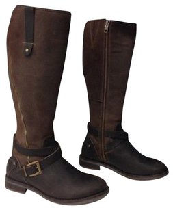 Bos And Co Gold Brown Black Boots