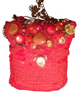 Knitted belt/cosmetic bag with swarovsky