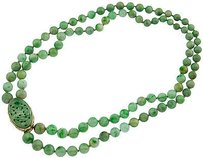 Ladies Double Strand Chinese Jadeite Necklace
