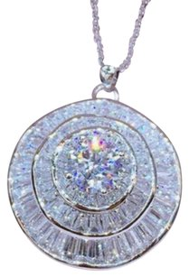 Other Ladies multi stone AAA CZ round pendant necklace