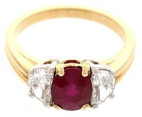 Ladies Oscar Heyman Platinum Ruby And Diamond Ring