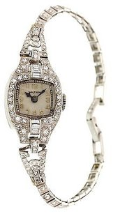 Ladies Vintage Platinum Diamonds Waltham Watch