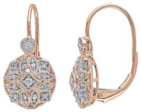 Other 1b4k Pink Gold 18 Ct Diamond Tw Geometric Leverack Earrings Gh I1i2